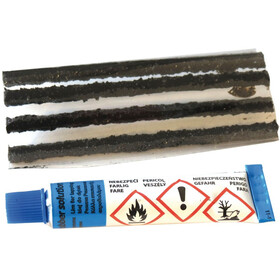 Diverse Tubeless-Reparatur-Kit Weldtite for tubeless tires 5 rolls and glue colourful